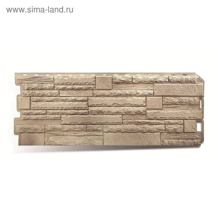 """Фасадная панель """"Камень скалистый"""", алтай 1,16х0,45м"""