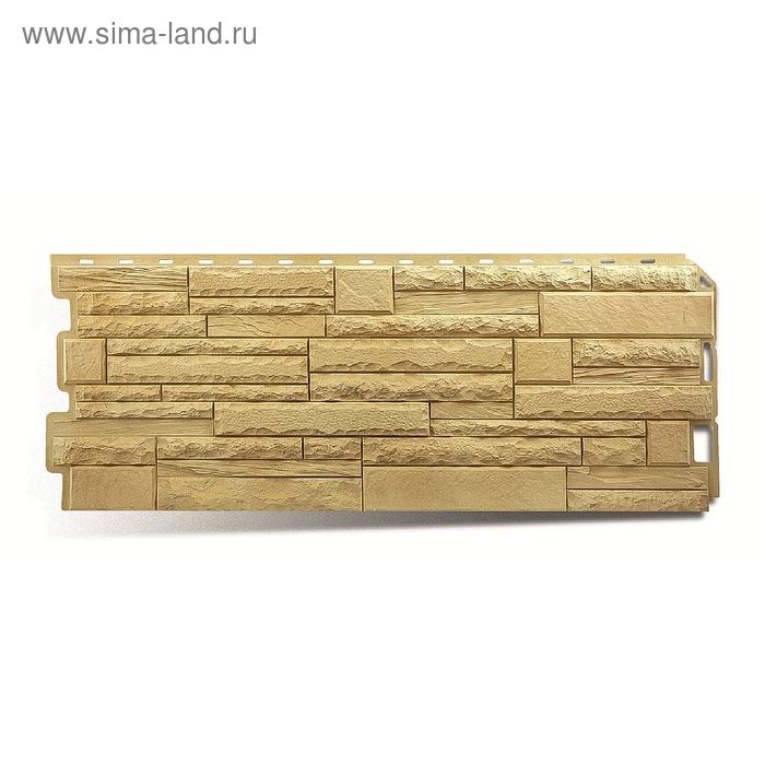 "Фасадная панель ""Камень скалистый"", кавказ 1,16х0,45м"