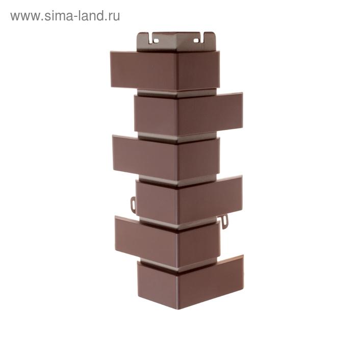 """Наружный угол """"Кирпич клинкерный"""", коричневый 0,45х0,16м"""
