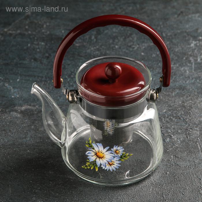 """Чайник заварочный 600 мл """"Цветочная фантазия"""""""