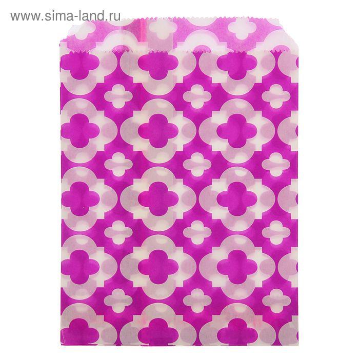 """Пакет фасовочный с плоским дном 13 х 18 см """"Узор"""", цвет фиолетовый"""