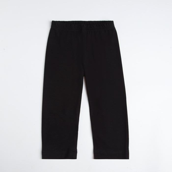 Бриджи для девочки, рост 122 см, цвет чёрный (арт. 420)