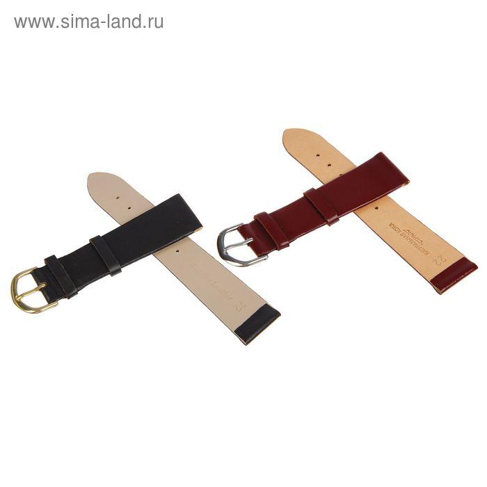 Ремень кожаный присоед р-р 22 мм, коричневый микс
