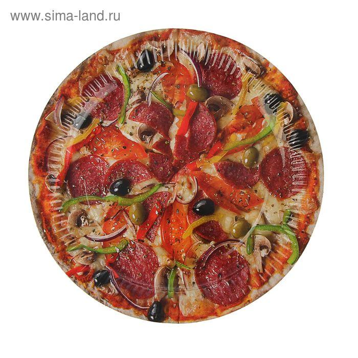 "Тарелка с ламинацией ""Пицца"" 23 см"