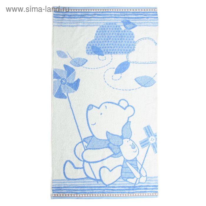 Полотенце махровое Disney Lovely Weather, цв голубой, 70*130 см, хл100% 460 г/м
