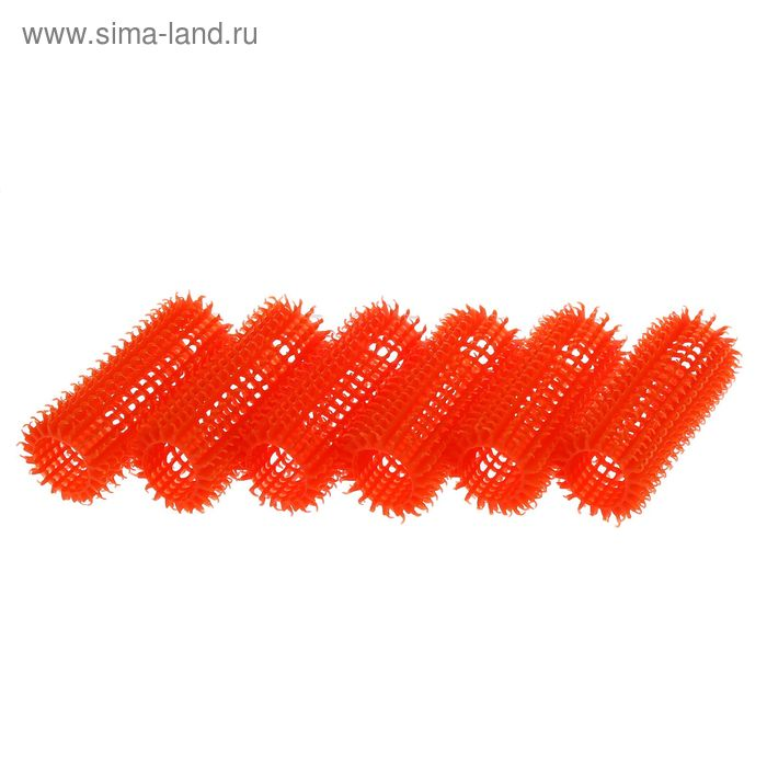 "Бигуди ""Липучка"", d=2,7см, 6шт, оранжевый"