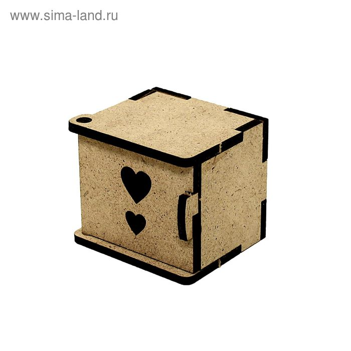 Прикроватная тумбочка для кукольного домика, 5,5х4,5х4,5 см