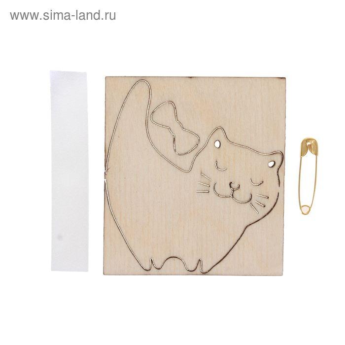 "Заготовка для броши ""Добрый кот"", 5х5,5 см"