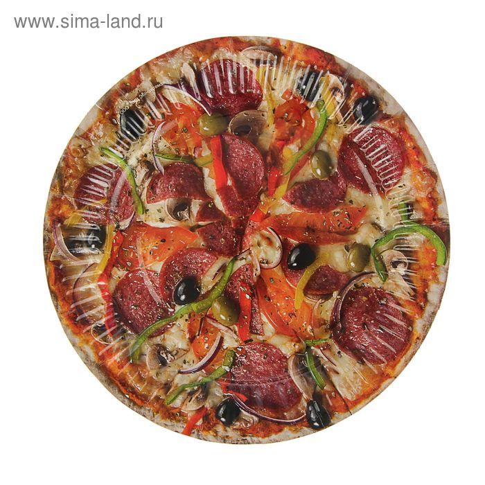 "Тарелка с ламинацией ""Пицца"" 18 см"