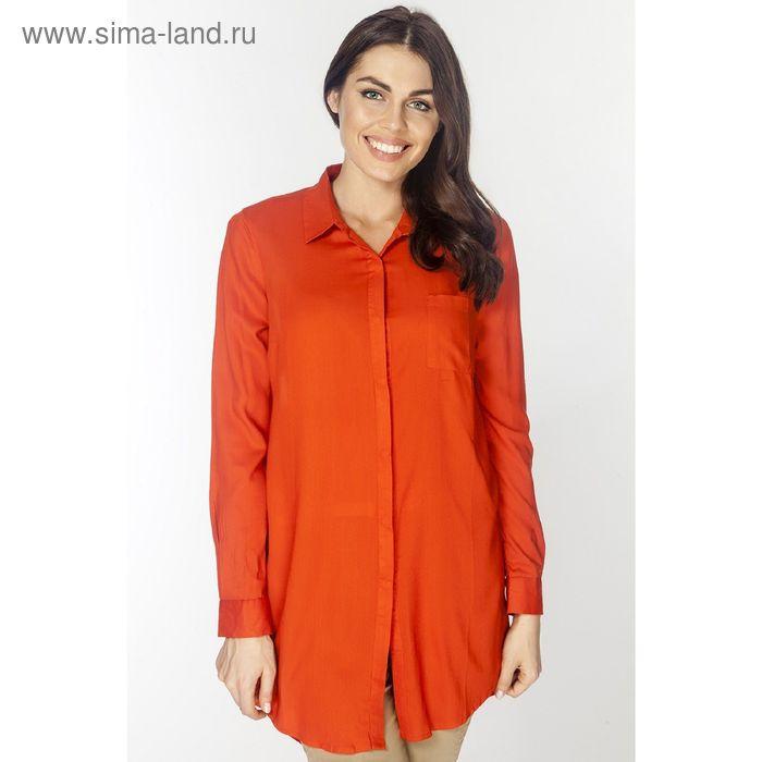 Туника женская L3166 цвет оранжевый, размер  L(48)