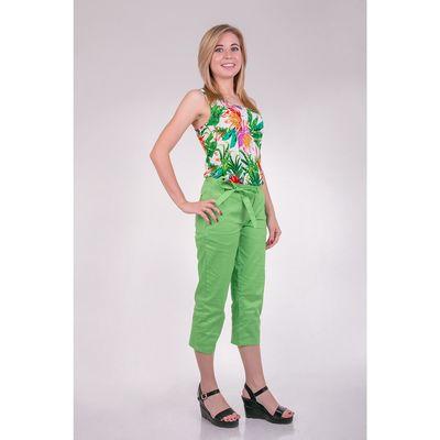 Бриджи женские T15-573 цвет салатовый, размер  XS(42)