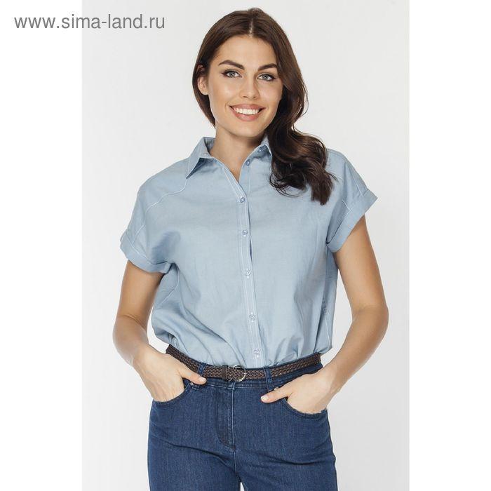 Блузка женская L3132 цвет голубой, размер  S(44)
