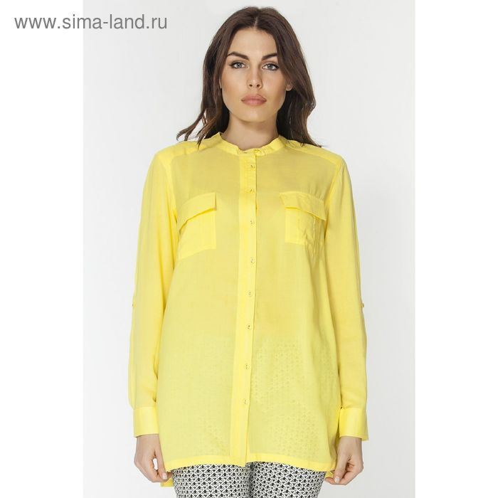 Блузка женская L3130 С+ цвет жёлтый, размер  XL(50)