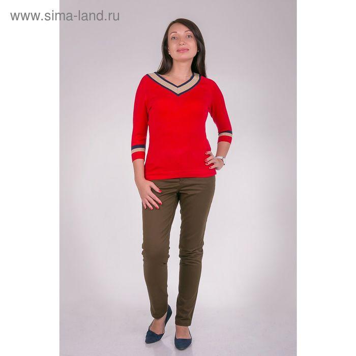 Джемпер женский VIS-0009V цвет красный, размер  L(48)