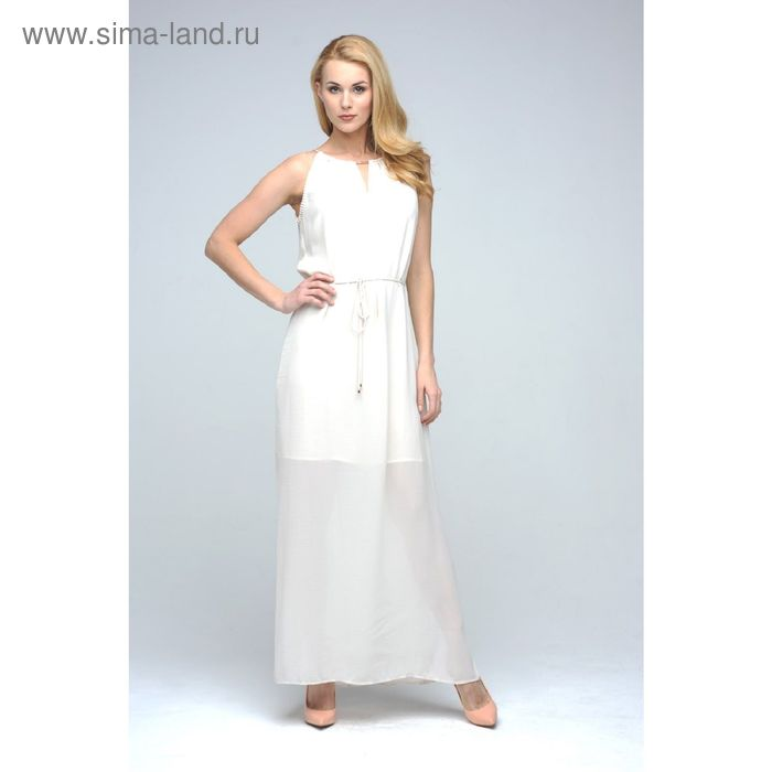 Платье женское D15-517 цвет ванильный, размер  S(44)