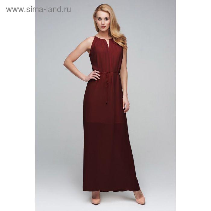Платье женское D15-517 цвет шоколад, размер  L(48)