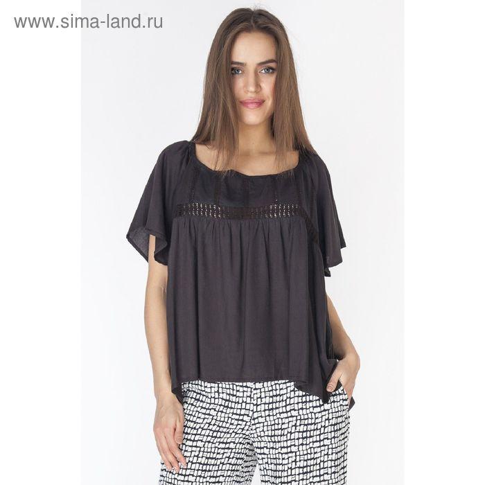 Блузка женская, цвет чёрный, размер XXL (52) (арт. L3214 С+)