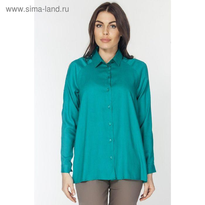 Блузка женская, цвет изумрудный, размер XXL (52) (арт. L3161 С+)