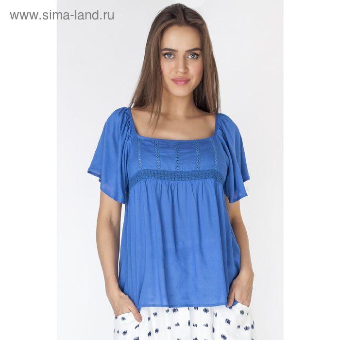 Блузка женская L3214 цвет голубой, размер  M(46)