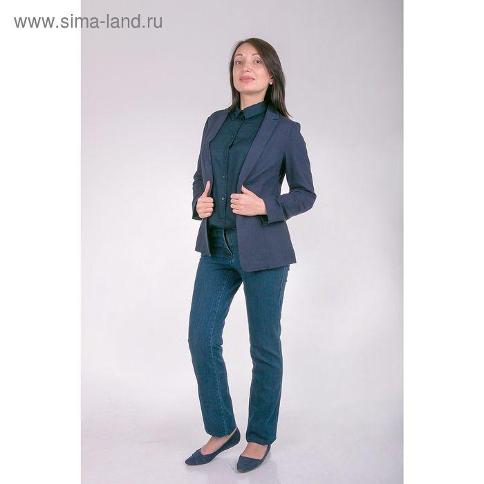 Жакет женский J3135 цвет темно-синий, размер  M(46)