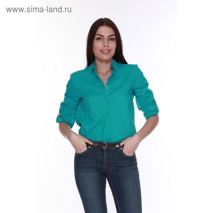 Блузка женская L15-425 С+ цвет морская волна, размер XL(50)