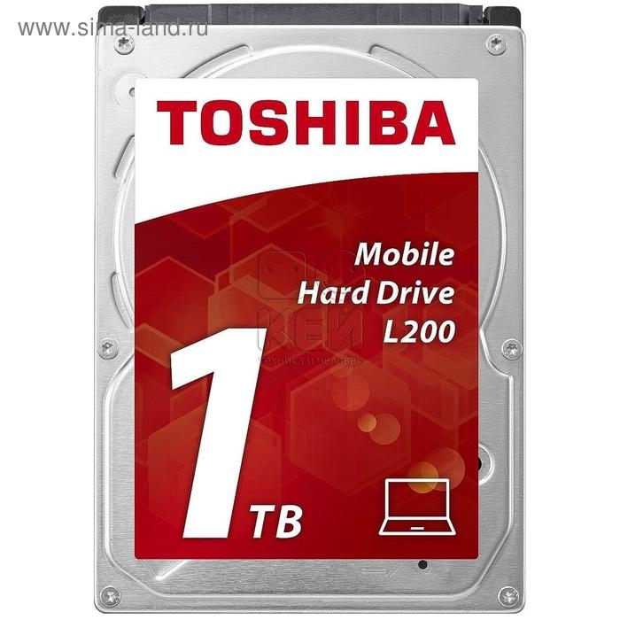 Жесткий диск Toshiba SATA-III 1Tb HDWJ110UZSVA L200 (5400rpm) 8Mb
