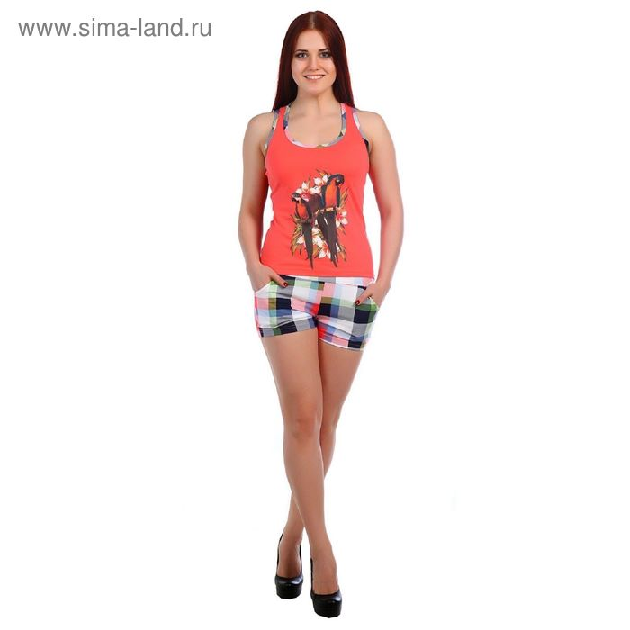 Комплект женский (майка, шорты), цвет МИКС, размер 52 (арт.ТК-127)