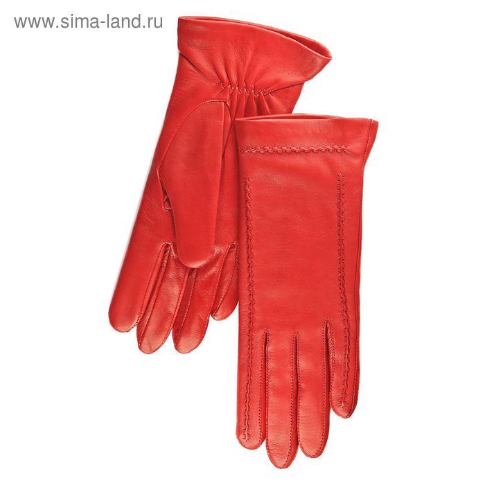 Перчатки женские, модель №344р, материал - овчина, подклад - полушерстяной, р-р 18, красные
