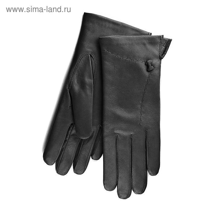 Перчатки женские, модель №202, материал - овчина, подклад - полушерстяной, р-р 19, чёрные