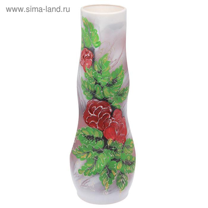 "Ваза напольная ""Свеча"" акрил, цветы"