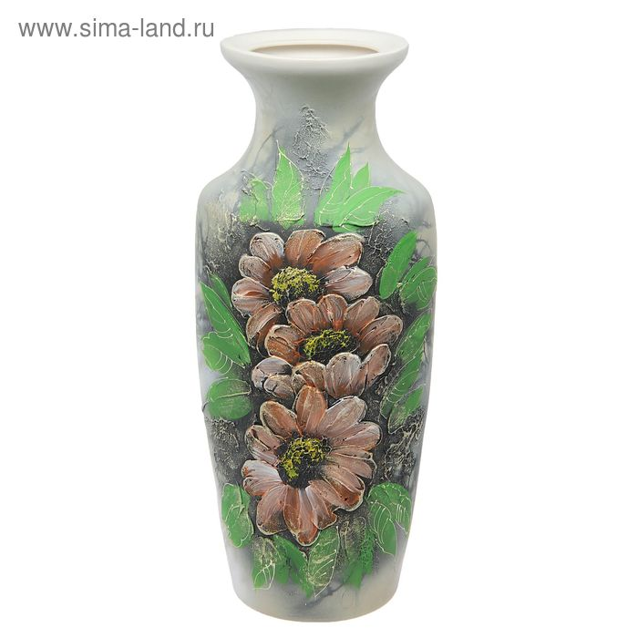 """Ваза напольная """"Боня"""" акрил, цветы, мрамор"""