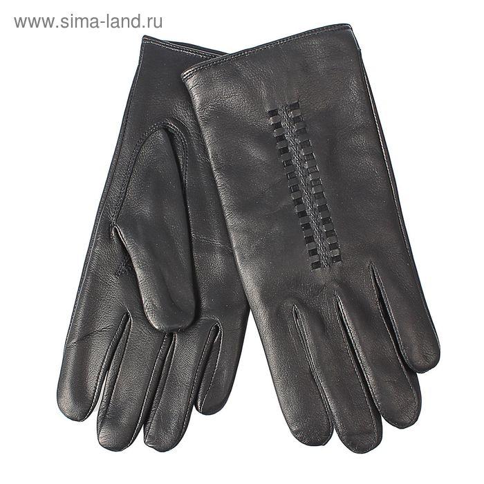 Перчатки мужские, модель №459, материал - овчина, подклад - чистошерстяной, р-р 24, чёрные