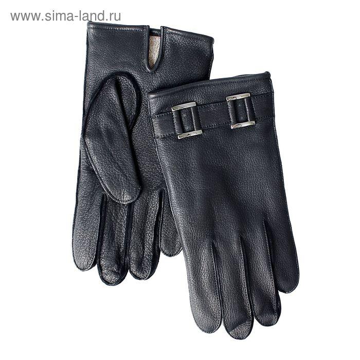 Перчатки мужские, модель №430, материал - олень, подклад - чистошерстяной, р-р 22, чёрные