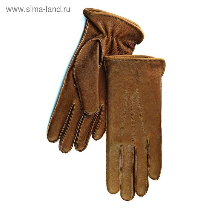 Перчатки женские, модель №177у, материал - олень, подклад - полушерстяной, р-р 17, коричневые