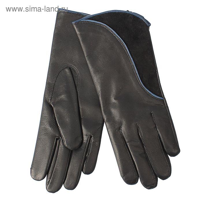 Перчатки женские, модель №419, материал - козлина, подклад - полушерстяной, р-р 20, чёрные