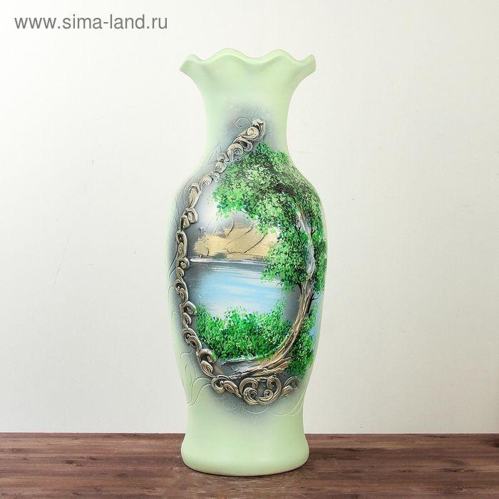 """Ваза напольная """"Елена"""" лепка, природа"""