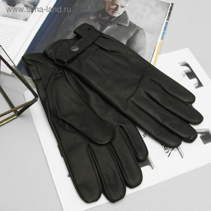 Перчатки мужские, модель №269, материал - козлина, подклад - полушерстяной, р-р 24, чёрные