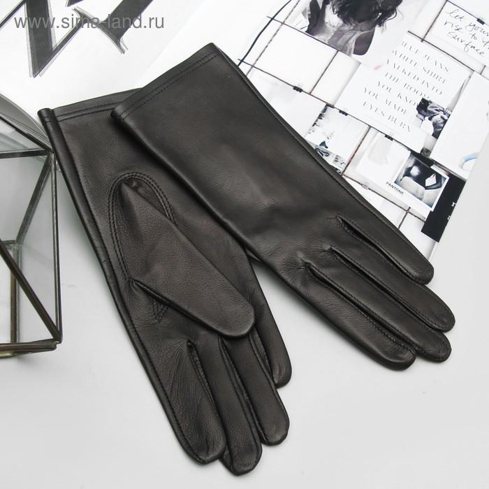 Перчатки женские, модель №418, материал - овчина, без подклада, р-р 17, чёрные