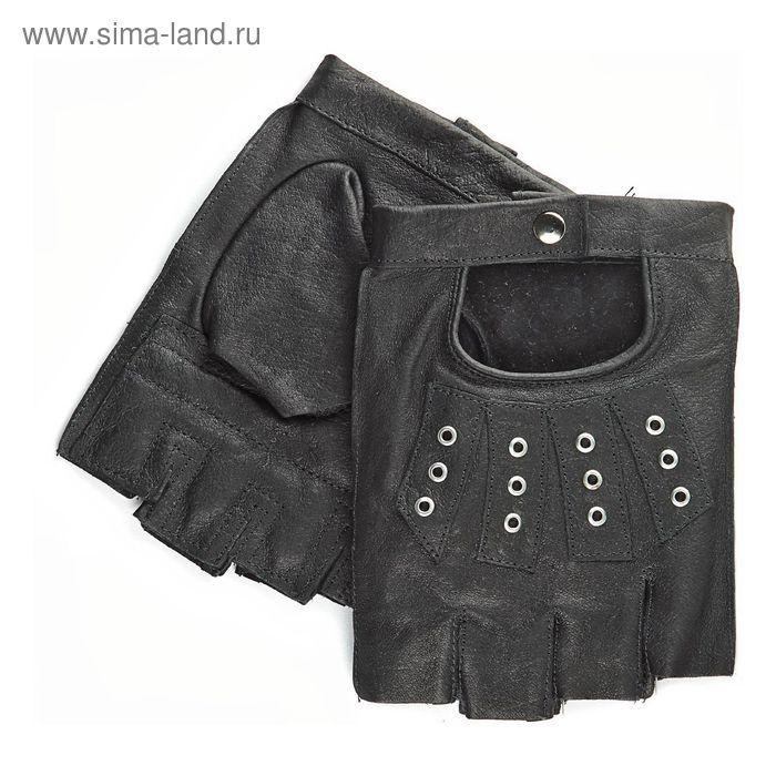 Перчатки мужские, модель №523-95у, материал - свинья, без подкладки, р-р 24, чёрные