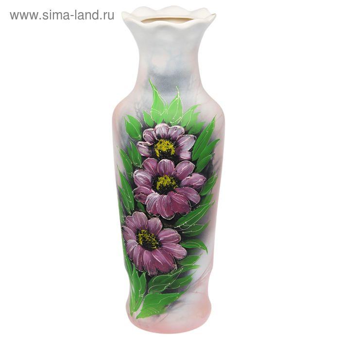 """Ваза напольная """"Люда"""" акрил, цветы, листья"""