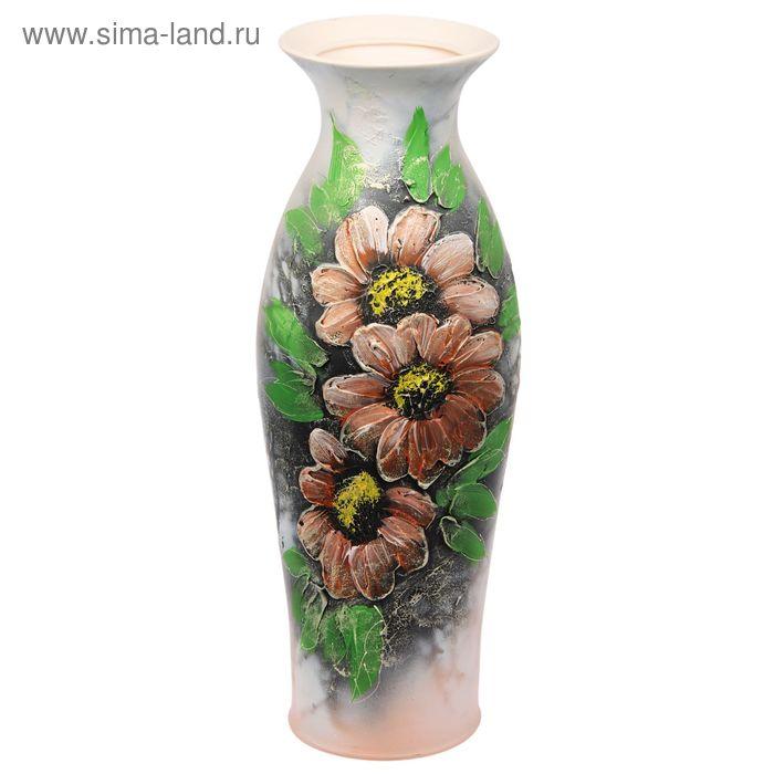Ваза напольная акрил, цветы