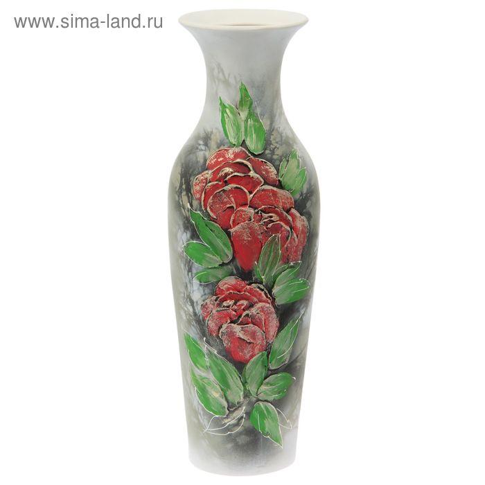 "Ваза напольная ""Амфора"" акрил, цветы, маки"