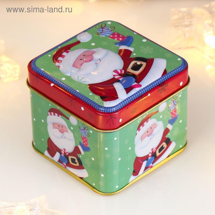 "Шкатулка новогодняя ""Дедушка Мороз с подарками"""