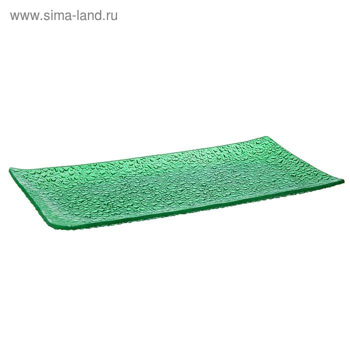 """Блюдо 32х16х2 см """"Акцент"""", цвет зеленый"""
