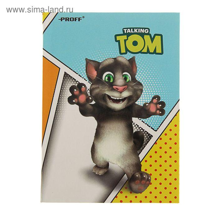 Записная книжка A6 80л Говорящий Том, офсет гибкая интегр глянцевая ламин обл TT16-NI680