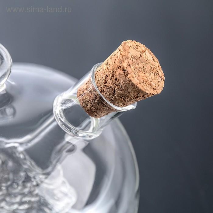 """Бутыль """"2 в 1"""" для соусов и масла """"Фьюжн. Рыбка"""" : 230 мл, 15 мл, 10,5х8,5х9,5 см"""