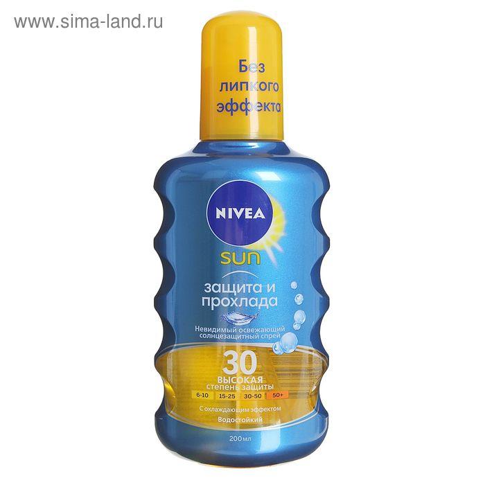 "Солнцезащитный аэрозоль Nivea SUN ""Невидимая защита"", SPF 30, 200 мл"