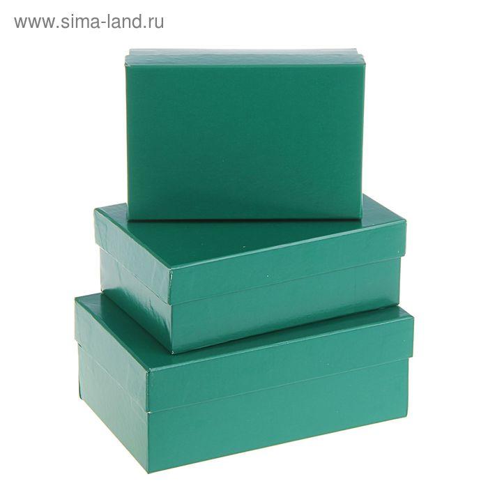 """Набор коробок 3 в 1 """"Зеленый однотонный"""""""
