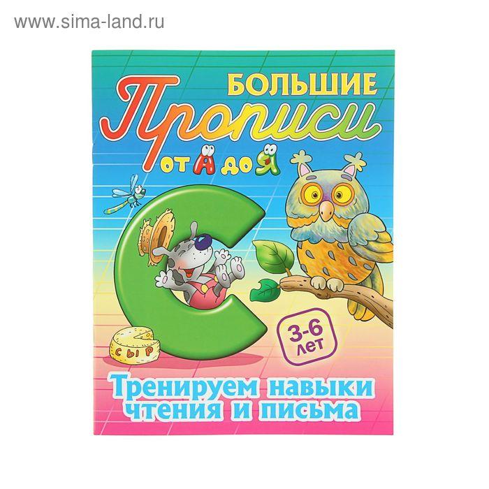 Большие прописи А4. Тренируем навыки чтения и письма. 3-6 лет Автор: Кузьмин С.