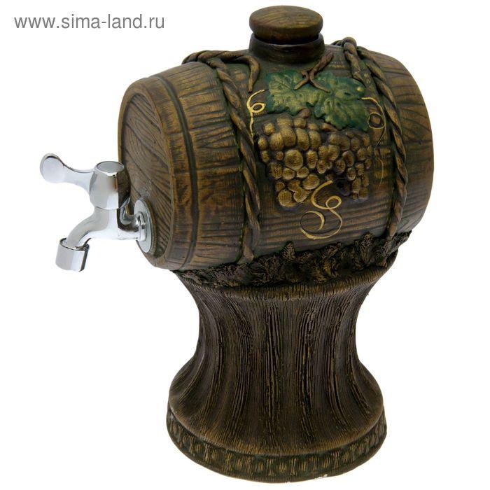 Бочка для вина на подставке, керамическая, 3 л